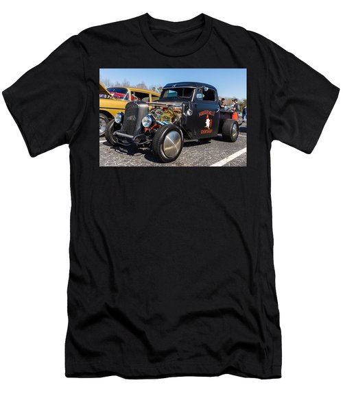 Men's T-Shirt (Athletic Fit) featuring the photograph 51 Ford F-1 Rat Rod - Ehhs Car Show by Michael Sussman