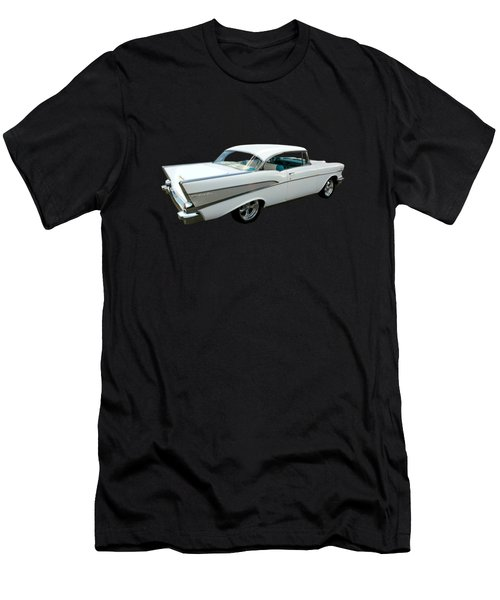 57 Chevy Bel-air Hardtop In Silver And White Men's T-Shirt (Athletic Fit)