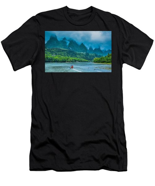Karst Mountains And Lijiang River Scenery Men's T-Shirt (Athletic Fit)