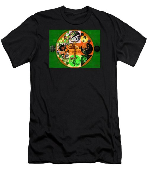 Men's T-Shirt (Slim Fit) featuring the digital art Abstract Painting - Lincoln Green by Vitaliy Gladkiy