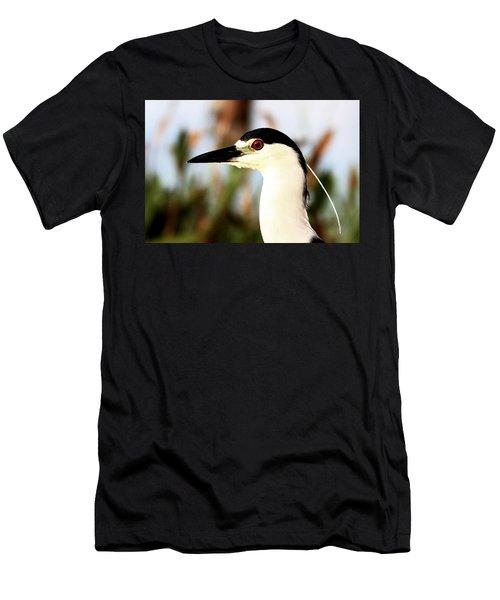 Black Crowned Night Heron Men's T-Shirt (Athletic Fit)