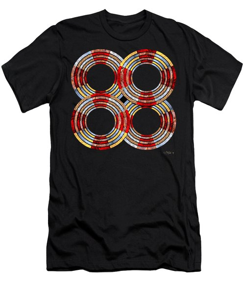 6 Concentric Rings X 4 Men's T-Shirt (Athletic Fit)