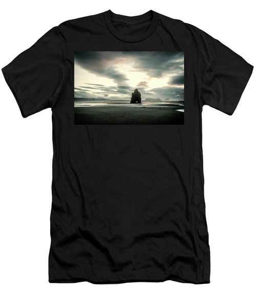 Dinosaur Rock Beach In Iceland Men's T-Shirt (Athletic Fit)