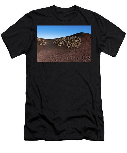 Etna, Red Mount Crater Men's T-Shirt (Athletic Fit)