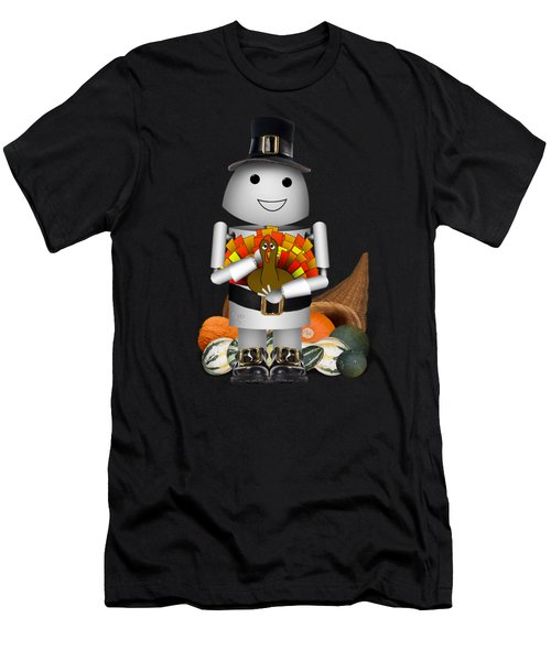 Robo-x9 The Pilgrim Men's T-Shirt (Athletic Fit)