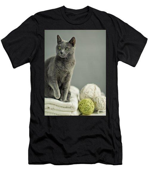 Russian Blue Men's T-Shirt (Athletic Fit)