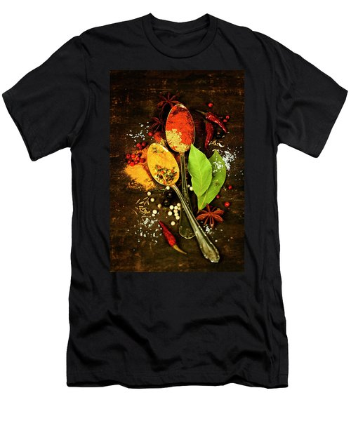 Spices On A Wooden Board Men's T-Shirt (Athletic Fit)