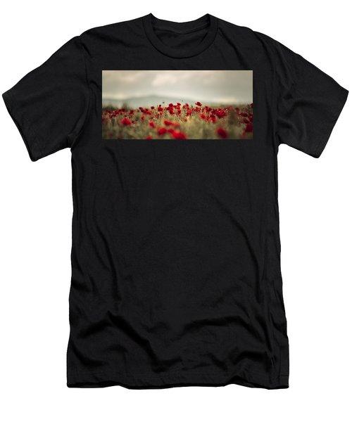 Summer Poppy Meadow Men's T-Shirt (Athletic Fit)