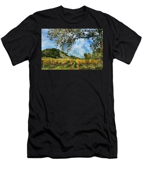 Vineyard In Napa Valley California Men's T-Shirt (Athletic Fit)