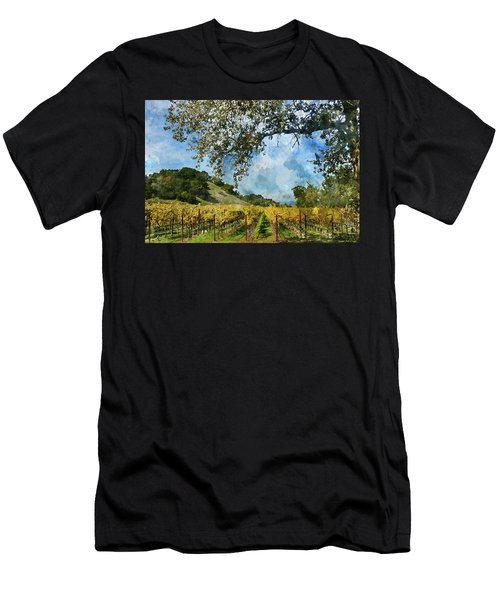 Vineyard In Napa Valley California Men's T-Shirt (Athletic Fit)