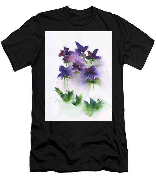 6 Violets Abstract Men's T-Shirt (Athletic Fit)
