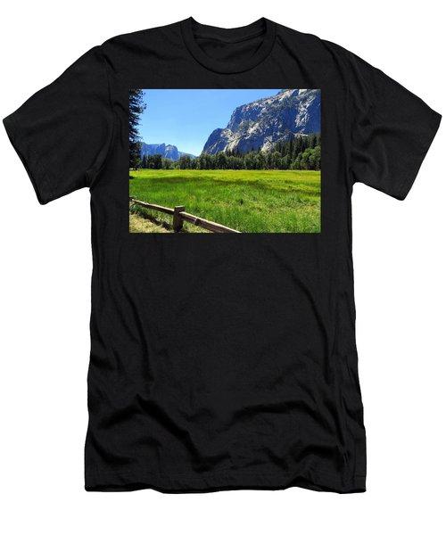 Yosemite Meadow Photograph Men's T-Shirt (Athletic Fit)