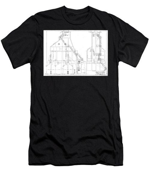 600 Ton Coaling Tower Plans Men's T-Shirt (Athletic Fit)