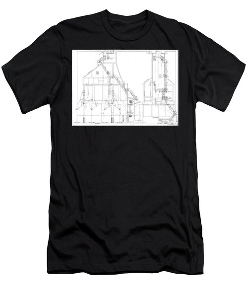 600 Ton Coaling Tower Plans Men's T-Shirt (Athletic Fit)