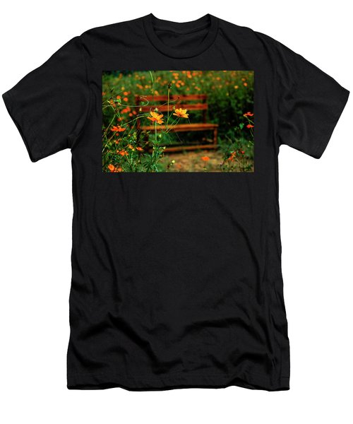 Men's T-Shirt (Athletic Fit) featuring the photograph Galsang Flowers In Garden by Carl Ning