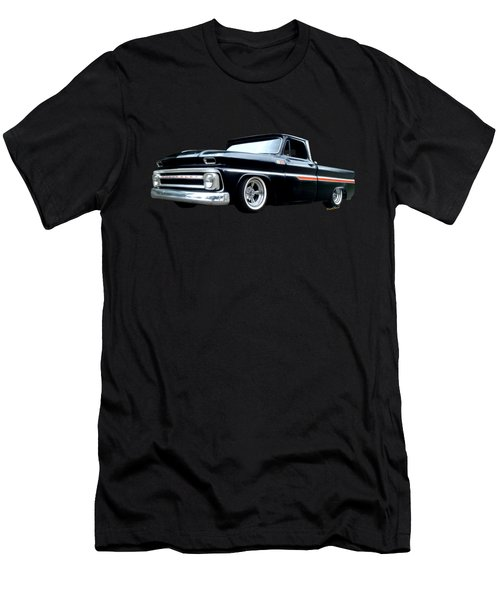 65 Chevy C-10 Stopping At Roy's On Route 66 Men's T-Shirt (Athletic Fit)