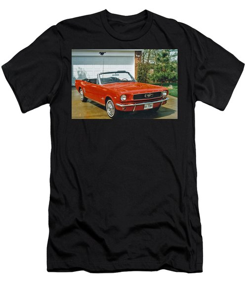 66 Mustang Convertable Men's T-Shirt (Athletic Fit)