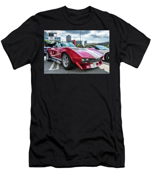 Men's T-Shirt (Athletic Fit) featuring the photograph 67 Mako Shark Corvette Stingray by Michael Sussman