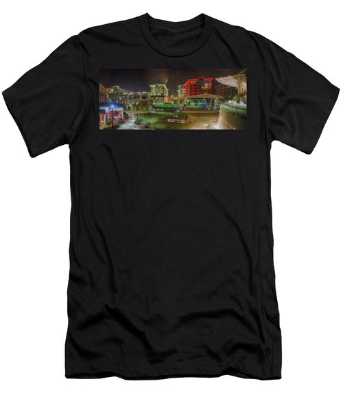 Greenville South Carolina Near Falls Park River Walk At Nigth. Men's T-Shirt (Athletic Fit)