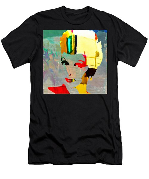 Men's T-Shirt (Slim Fit) featuring the mixed media Lucille Ball by Marvin Blaine