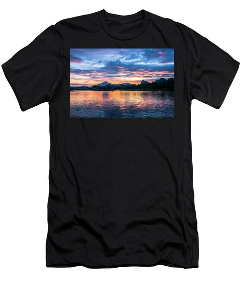 Men's T-Shirt (Athletic Fit) featuring the photograph Sunrise Scenery In The Morning by Carl Ning