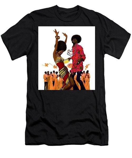 70's Black And Proud Men's T-Shirt (Athletic Fit)