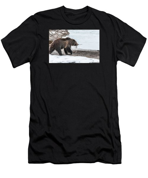 Men's T-Shirt (Slim Fit) featuring the photograph #760 At The River In Early Spring by Yeates Photography