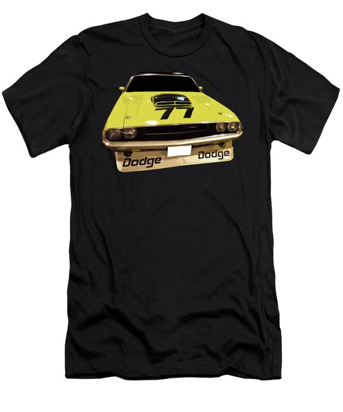 77 Yellow Dodge Men's T-Shirt (Athletic Fit)