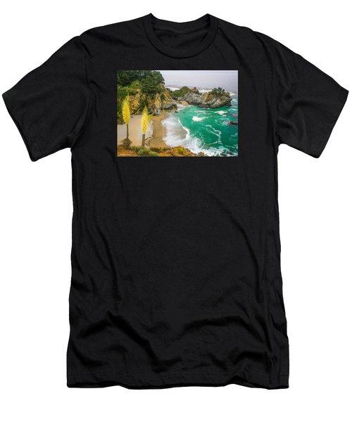#7842 - Big Sur, California Men's T-Shirt (Athletic Fit)