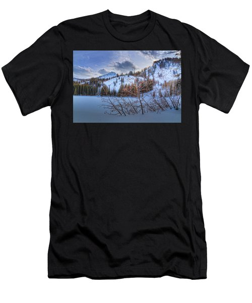 Wasatch Mountains In Winter Men's T-Shirt (Athletic Fit)