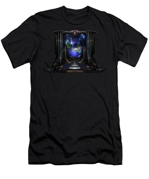 89-123-a9p2 Arsairian 7 Reporting Fractal Composition Men's T-Shirt (Slim Fit) by Xzendor7