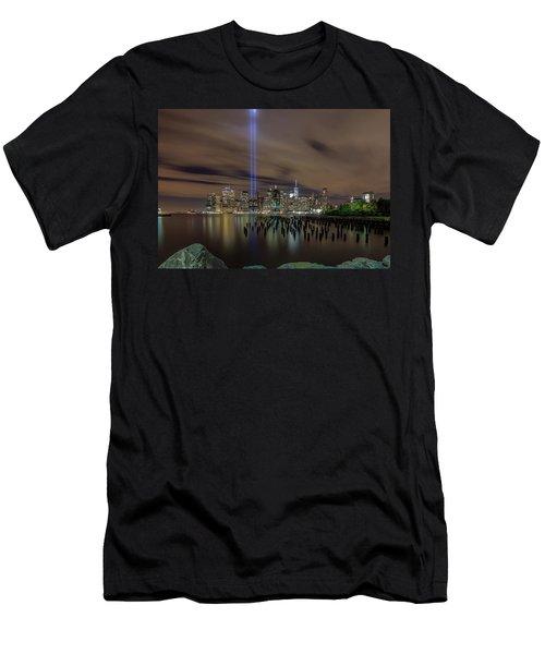 9/11 Tribute Lights 2016 Men's T-Shirt (Athletic Fit)