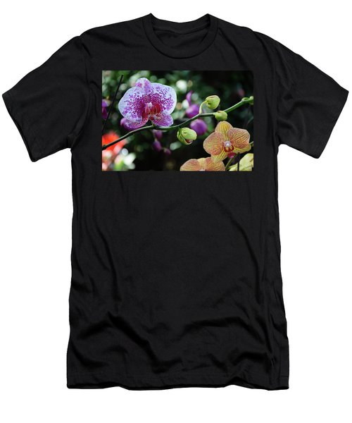 Men's T-Shirt (Athletic Fit) featuring the photograph Butterfly Orchid Flowers by Carl Ning