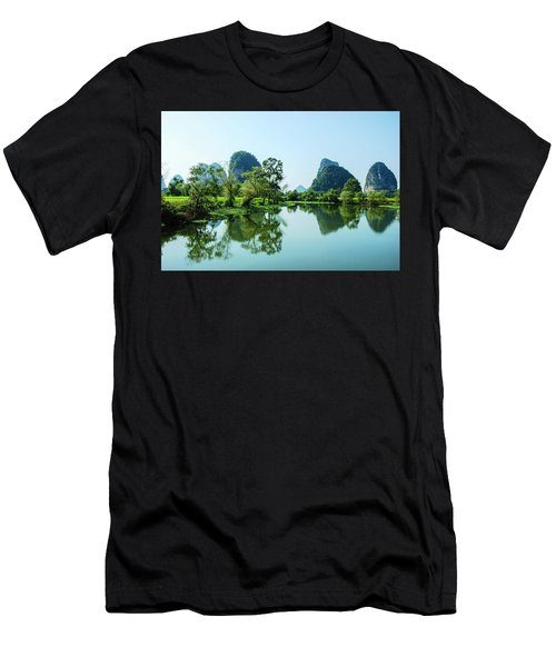 Men's T-Shirt (Athletic Fit) featuring the photograph Karst Rural Scenery by Carl Ning