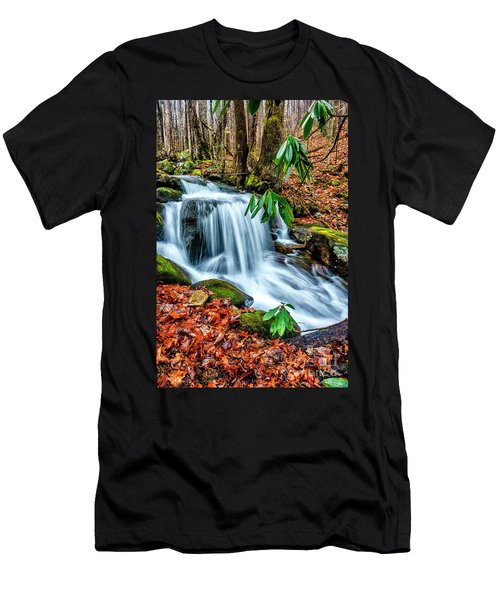 Men's T-Shirt (Slim Fit) featuring the photograph Little Laurel Branch by Thomas R Fletcher