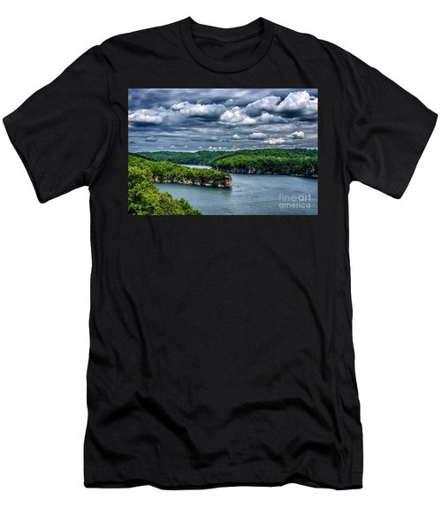 Long Point Summersville Lake Men's T-Shirt (Slim Fit) by Thomas R Fletcher