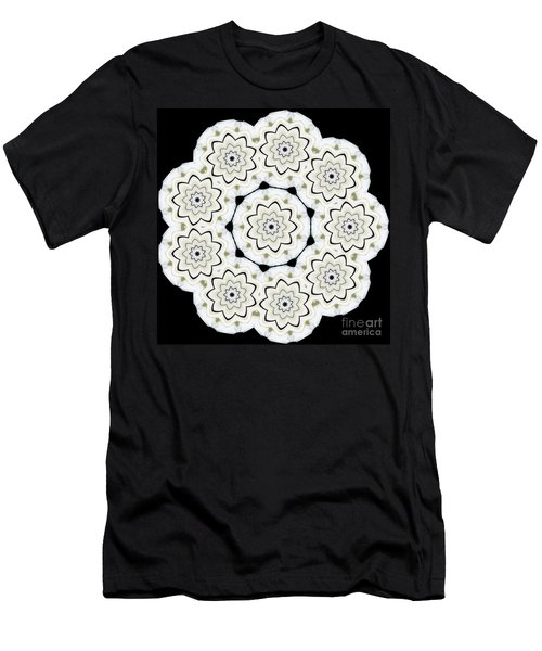 9-pointed Orchid Star Men's T-Shirt (Athletic Fit)