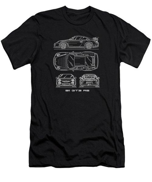 911 Gt3 Rs Blueprint Men's T-Shirt (Athletic Fit)