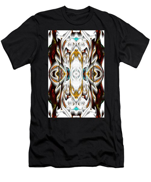 Men's T-Shirt (Athletic Fit) featuring the digital art 992.042212mirror2ornateredagold-1a-1 by Kris Haas