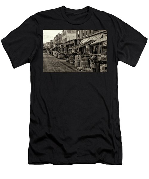 Men's T-Shirt (Athletic Fit) featuring the photograph 9th Street Italian Market - Philadelphia Pennsylvania by Bill Cannon