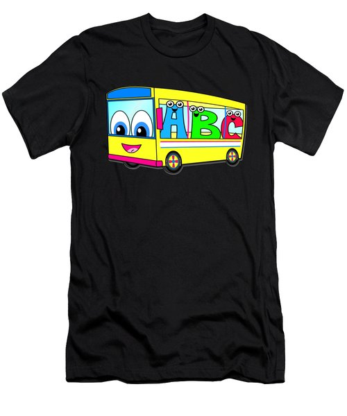A B C Bus T-shirt Men's T-Shirt (Athletic Fit)