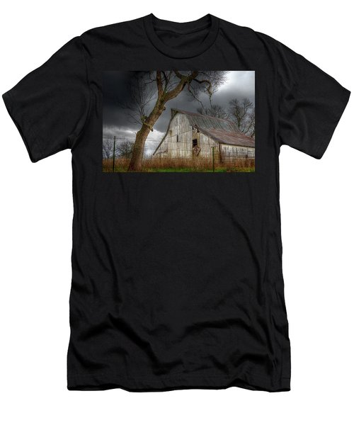 A Barn In The Storm 2 Men's T-Shirt (Slim Fit) by Karen McKenzie McAdoo