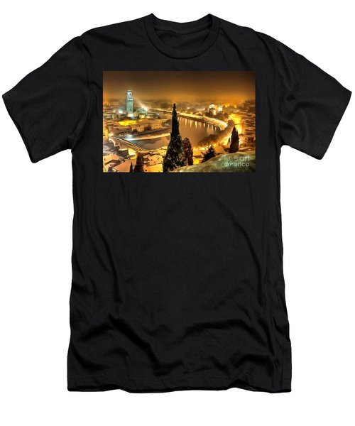 A Beautiful Blonde In Thick Paint Men's T-Shirt (Athletic Fit)