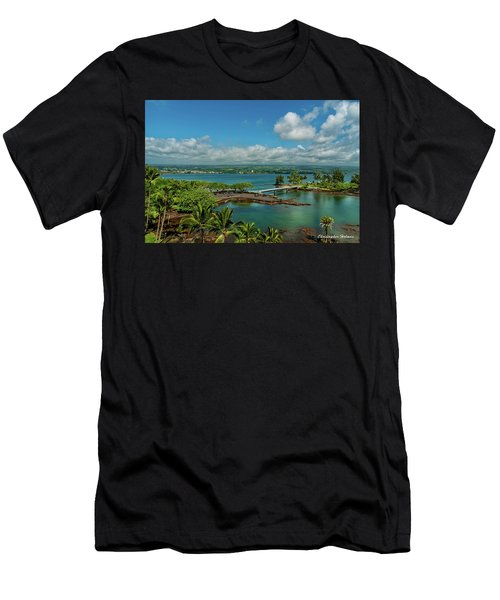 A Beautiful Day Over Hilo Bay Men's T-Shirt (Athletic Fit)