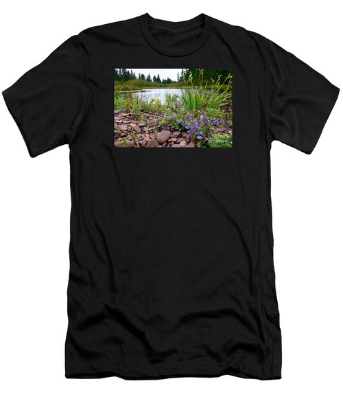 Men's T-Shirt (Slim Fit) featuring the photograph A Beautiful Rainy Day by Sandra Updyke