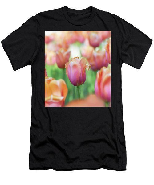 A Bed Of Tulips Is A Feast For The Eyes. Men's T-Shirt (Athletic Fit)