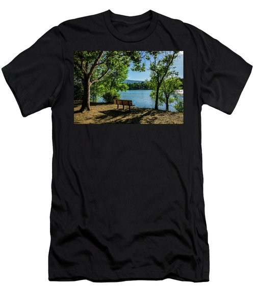 A Bench Overlooking Vasona Lake Men's T-Shirt (Athletic Fit)
