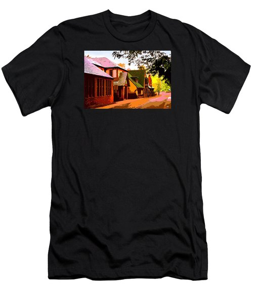 A Bicyclist On English Lane Men's T-Shirt (Athletic Fit)