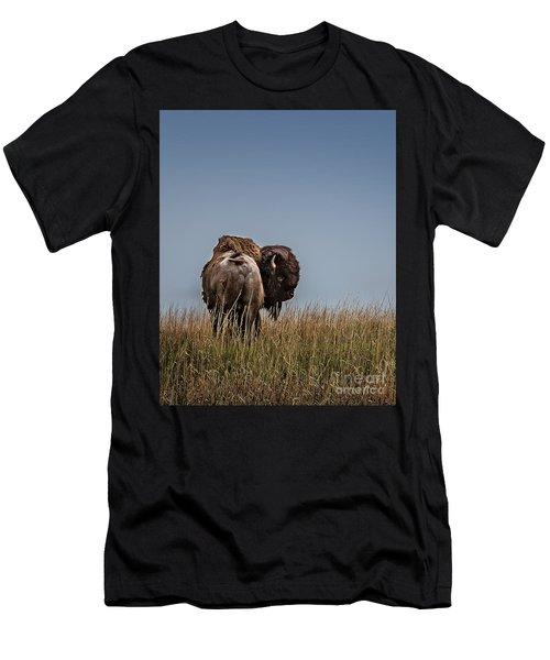 A Bison Interrupted II Men's T-Shirt (Athletic Fit)