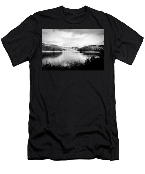A Black And White Landscape On The Nantahala River Men's T-Shirt (Athletic Fit)